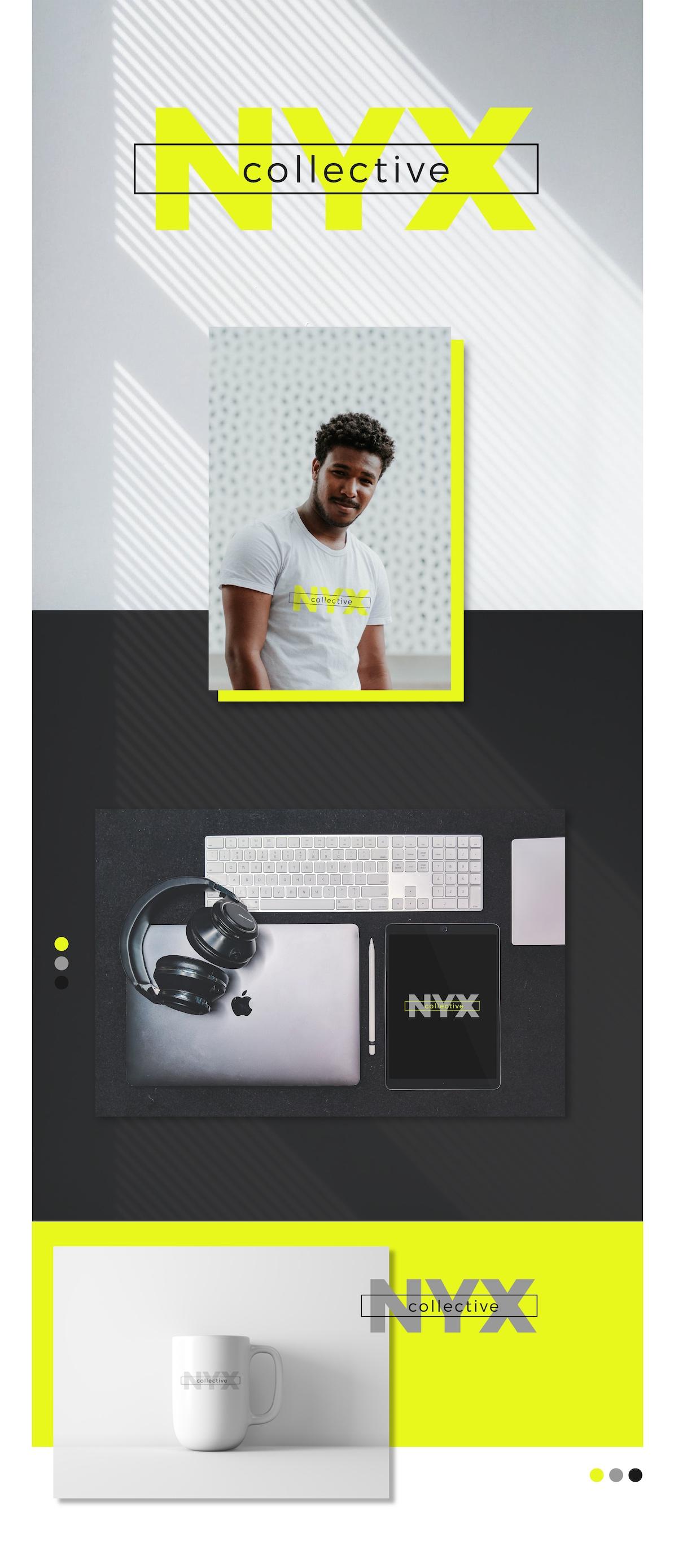 nyx collective logo design