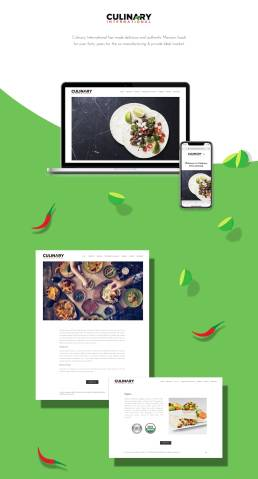 web design and development Culinary International
