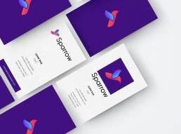 Branding logo design brand identity Sparrow