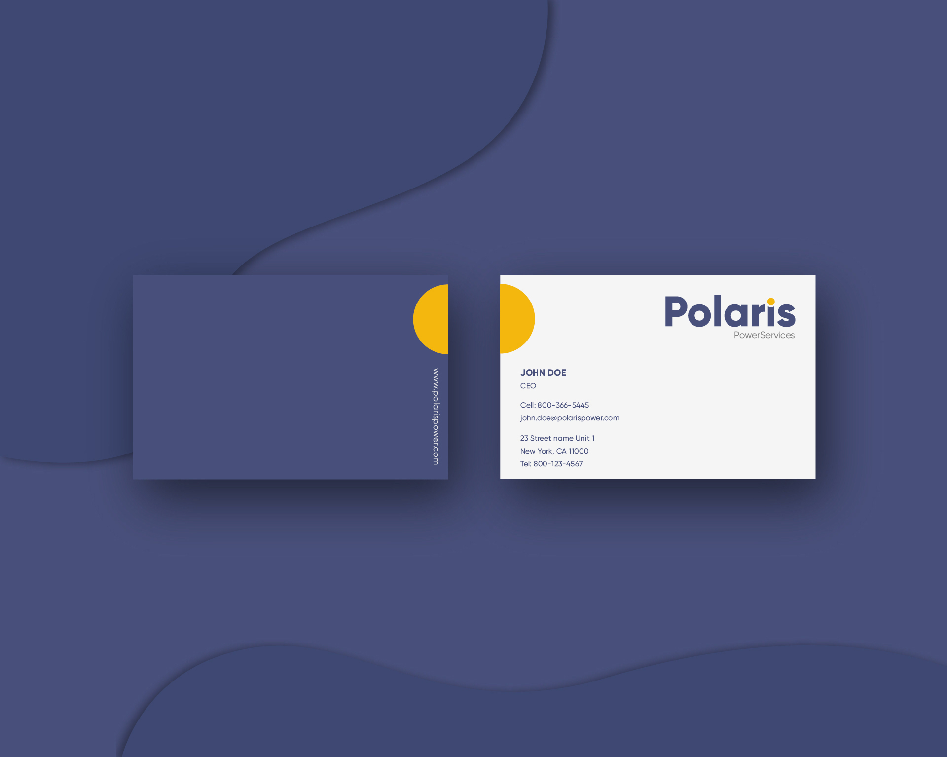 Polaris business card