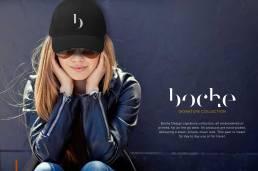 Shopify e-Commerce Website Development Branding Boche Design Logo Hat