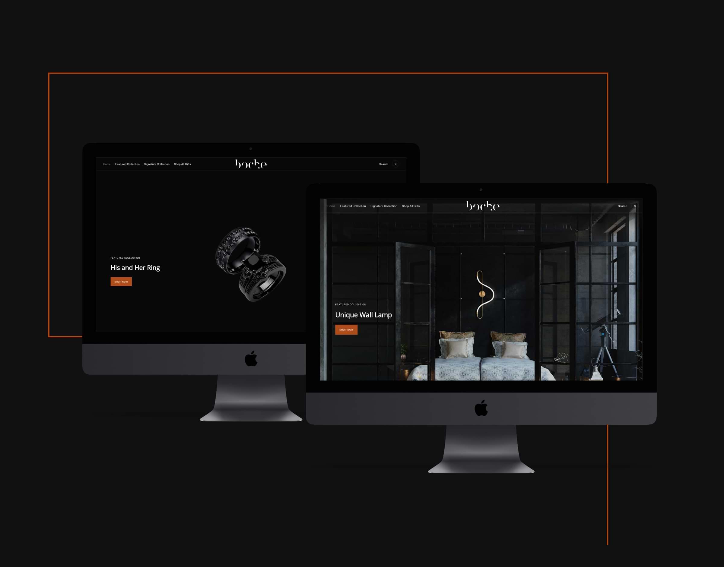 Shopify e-Commerce Website Development Branding Boche Design Logo website boche design