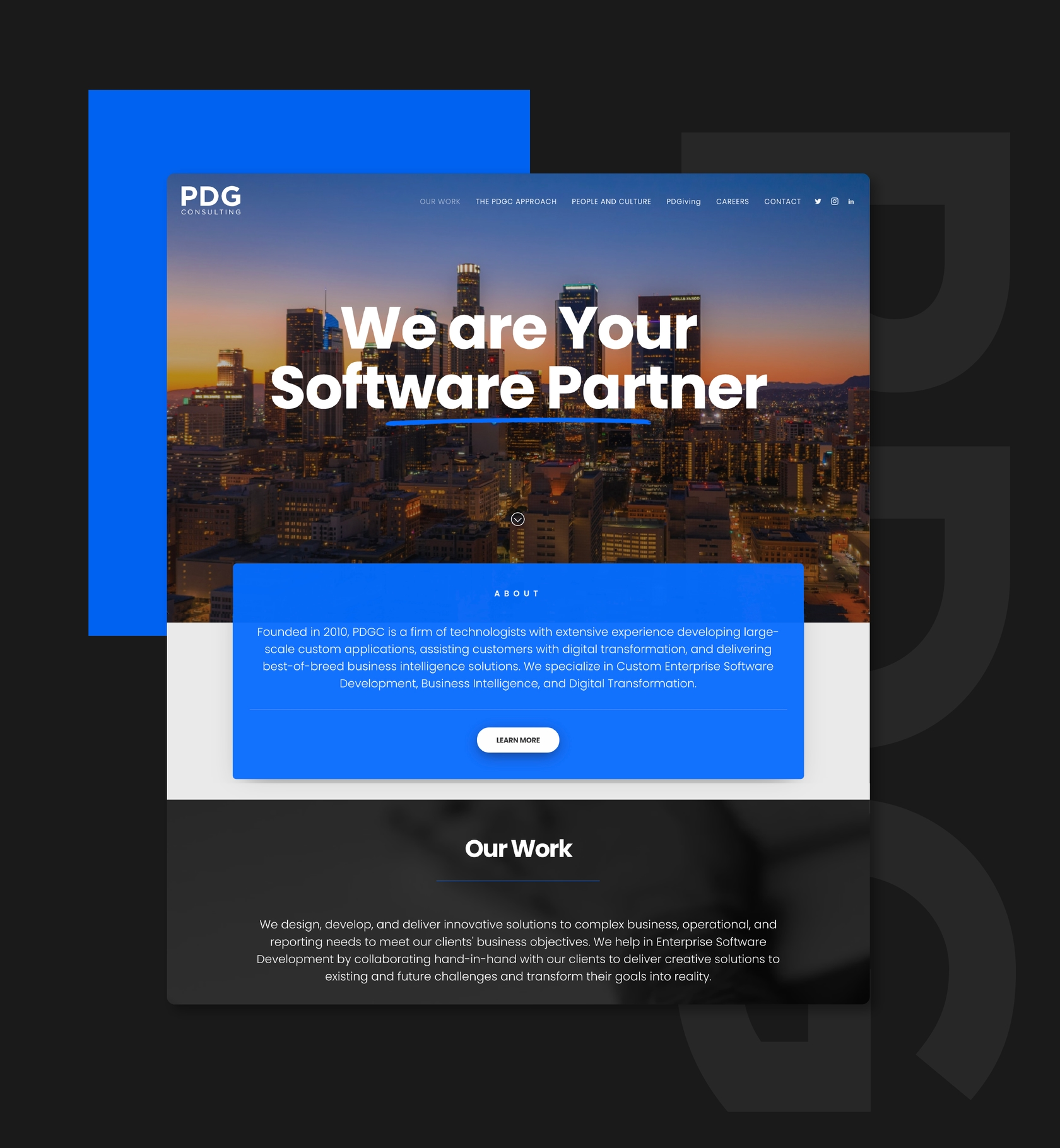Web Development and Web Design for Software Company Based in Los Angeles